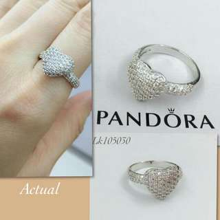 Pandora earring and ring