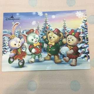 Disney Christmas postcard