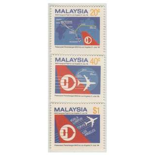 Malaysia 1986 Inaugural Flights of MAS to Los Angeles set of 3V Mint MNH SG #355-357