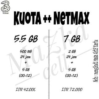 Kuota++ 3 three netmax