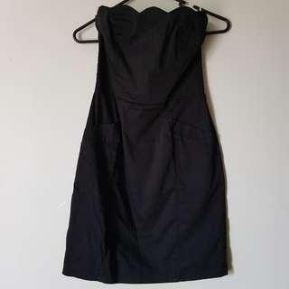 Bardot Black Strappless Dress