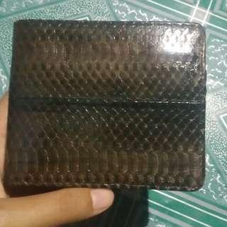 Dompet kulit kobra asli