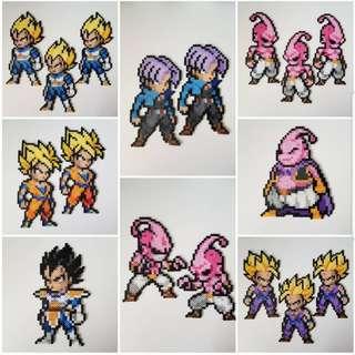 Hama beads design Dragon Ball Z Characters DBZ