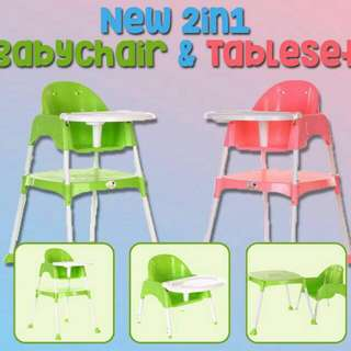 2 IN 1 BABYCHAIR&TABLE SET
