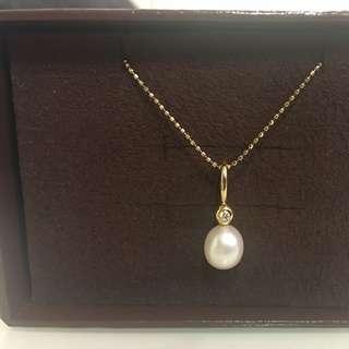🚚 Pandora 14k 鑽石珍珠charm 絕版品 花猴款
