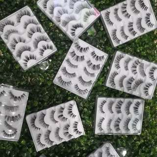 Affordable False Lashes 5 Pairs in a Tray