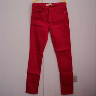 Cotton On red denim pants