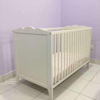 Ikea Baby Cot + Mattress