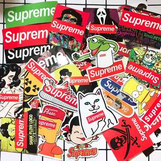 SUPREME PVC LUGGAGE STICKER 潮牌LOGO行李貼紙 25張