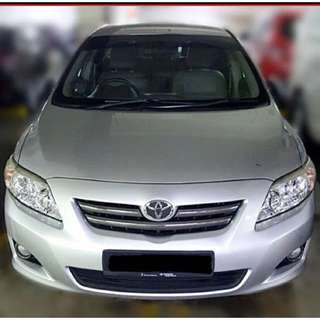 Grab Partner $55/day Toyota Altis 1.6A