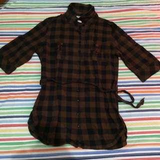 Checkered Brown-Black Polo