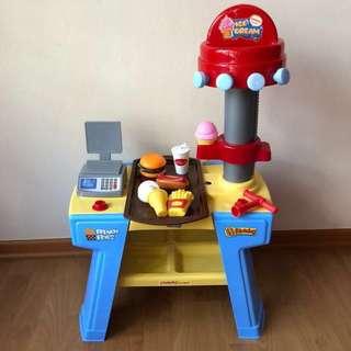 🍦WANDERLONG🍦 Yummy Shop Pretend Play Ice Cream Dessert/ French Fries/ Hotdog Shop Stand Set (Children/ Kids Toy)