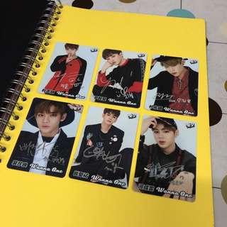 Wanna One 銀簽yescard $5/張 兩張起買 包郵