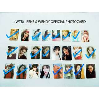 WTB IRENE & WENDY Official Photocard