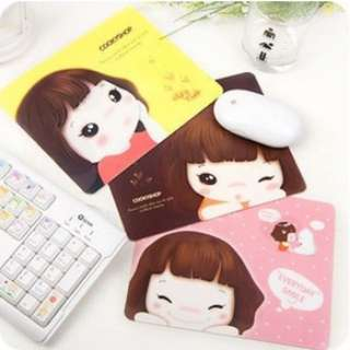 Super popular Korean style girl mouse pad