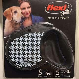 🚚 德國 Flexi 飛萊希 現貨 伸縮牽繩 千鳥格款 黑色 S號 5m 最大12kg 貓狗皆可使用 小型犬 中型犬