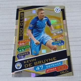 Match Attax Champions League 16/17 - De Bruyne 100 Club
