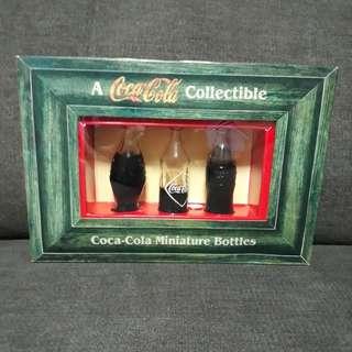 Coca cola miniature bottels