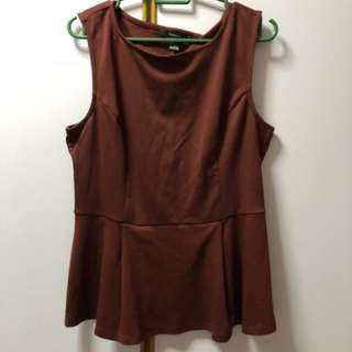 maroon and mint green Peplum Top BOTH FOR $8 mailed