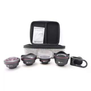 Kase 4-in-1 Pro Phone Lens kit - Wide angle, portrait, fish eye, macro, telephoto, camera phone lens