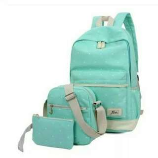 Korean Polka 3in1 back pack