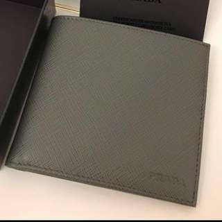 Prada wallet 男裝 灰色 銀包 全新 合送禮