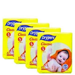 Drypers classic open 4pack s-xxl