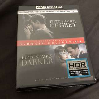 Fifty shades of grey 2 movie collection 4k + bluray