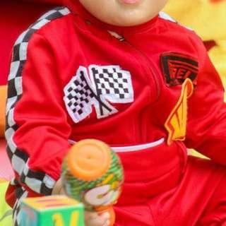 Racing costume for boys 1-2, 3-5, 6-9 yo available