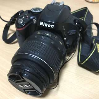 Nikon D5100 with 18-55 Len + all accessories