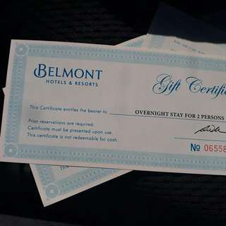 Belmont 1 night stay