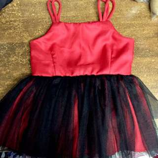 Red Tulle Dress sizes 1-3, 4-7