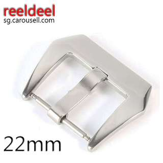 22mm Stainless Steel Large Pre-V Buckle for Watches