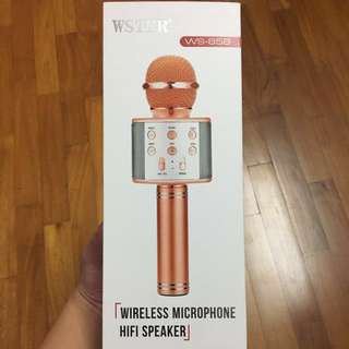 WS858 wireless microphone hifi speaker