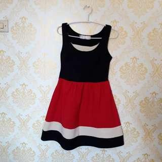 Dress jreep hitam merah