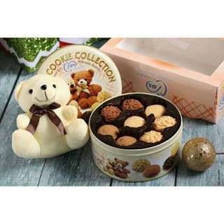 🚚 馬來西亞手工餅乾禮盒(附提袋和小熊)
