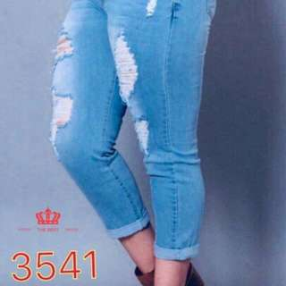 Tattered Pants Stretchable