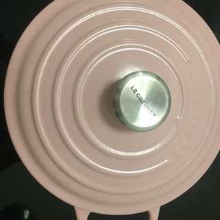 Le Creuset pink pot