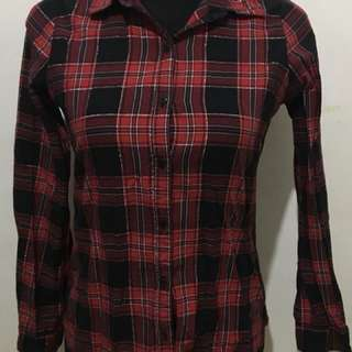 Faded Glory Checkered Longsleeves