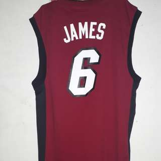 Selling my lebron james miami jersey authentic