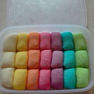 Pancake durian rainbow & durian kupas