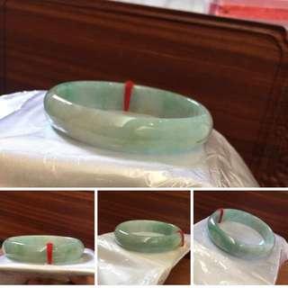 A玉飄綠貴妃玉鐲 尺寸57