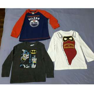 3pcs Brand New Boys Long Sleeves 3T