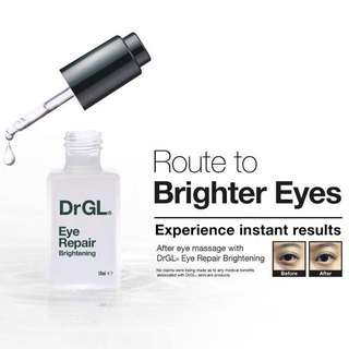 🍊HUAT HUAT $88 FLASH SALE!! ULTIMATE LUXURY EYE CARE✨BANISH DARK CIRCLES, PUFFINESS, FINE LINES WITH THIS WATERY GEL LIKE TEXTURE!! NO OIL CLOGS OR BUMPS!!! 👀 🌹FULL SIZE🌹Dr GL Eye Repair (Brightening) 10ml