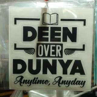 Islamic Sticker - Deen Over Dunya