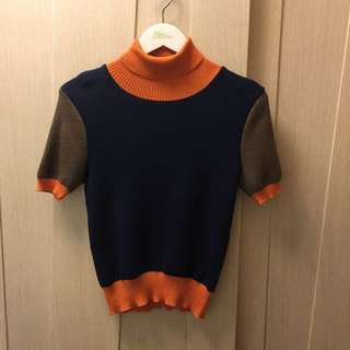 United Colors of Benetton three tone knitted top 🦁