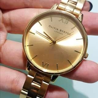 英國Olivia Burton 金色手錶 Gold Watch