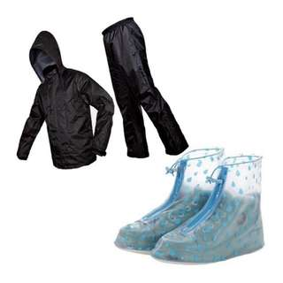Onhand Raincoat with rainproof shoes cover