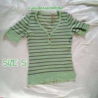 ESPRIT TOP Green stripes