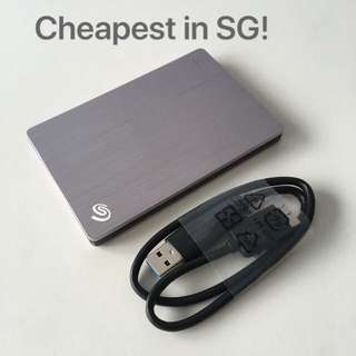 "Seagate 2TB 2.5"" Ultra Slim portable external hard drive disk USB3.0"